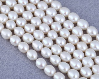 Japanese Tear Drops White Faux Pearl Beads 3x6mm Strand or Loose