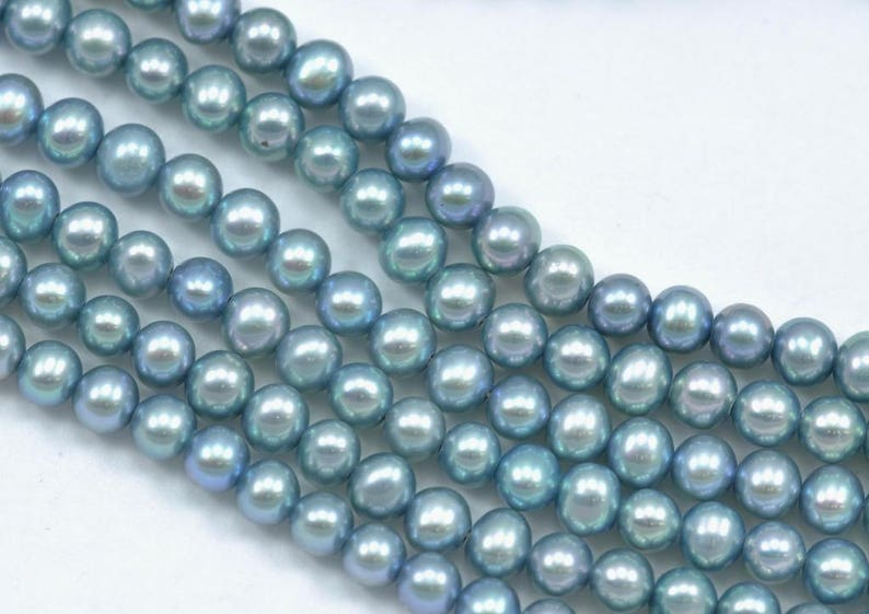 4-5mm Pale Lavender Blue Mint Green Rice Oval Teardrop Freshwater Pearls Beads
