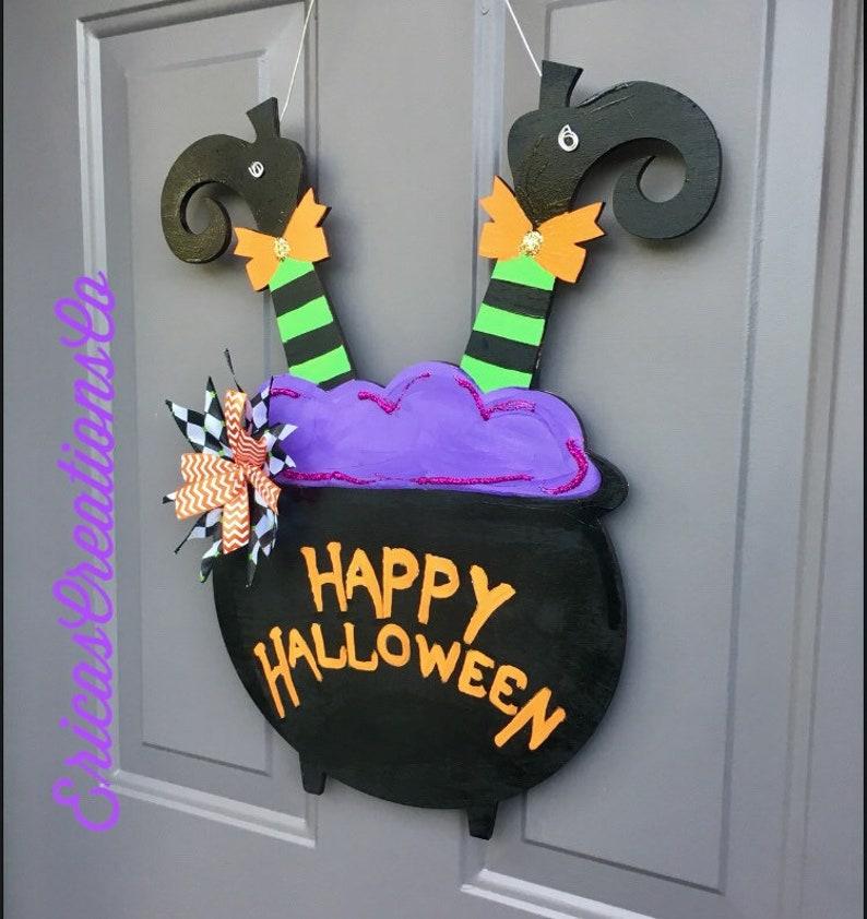 Halloween Witch legs door hanger Ready to ship