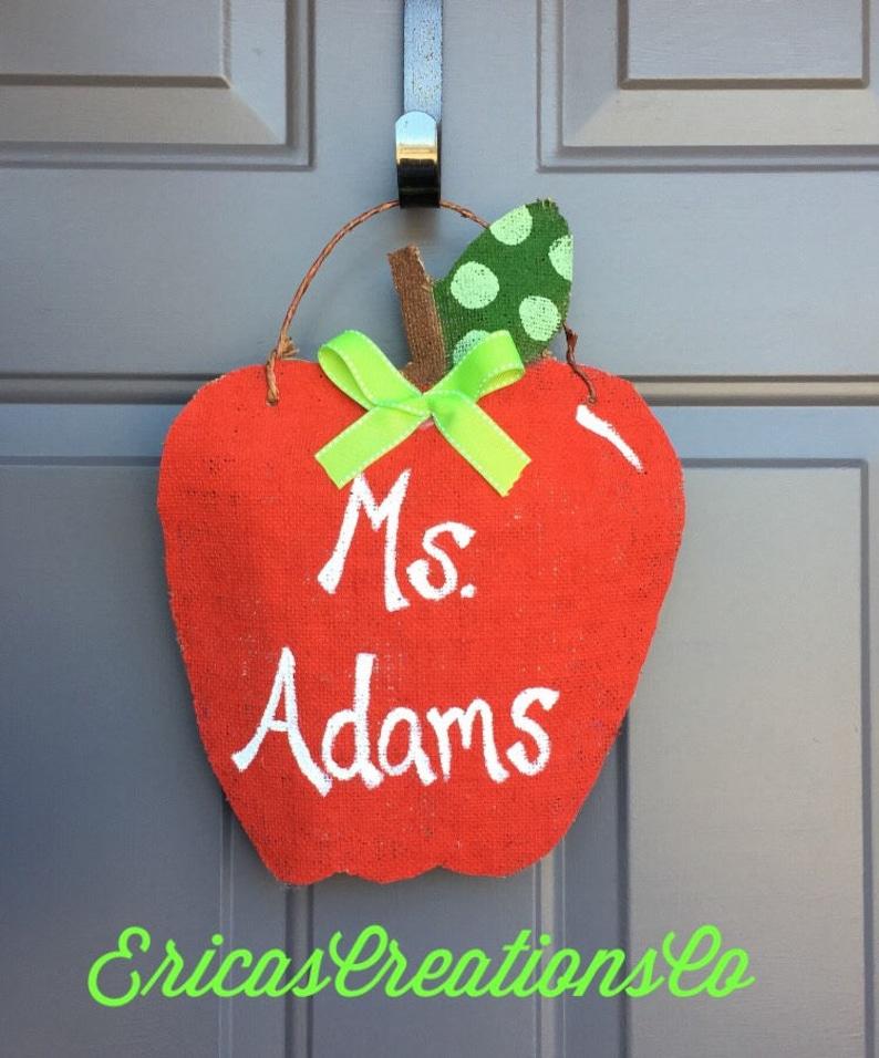 Teacher Apple Door Hanger