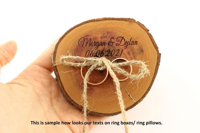 Rustic wedding ring box Plum tree ring box Ring pillow| Ring holder| Rustic wedding decoration Rustic ring box