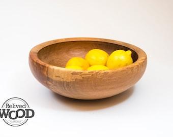 Functional Pecan Centerpiece Wooden Bowl Hand Made Salad Fruit Decor Display – Kent Weakley – 081767D