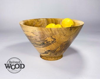 Beautiful Spalted Poplar Wood Bowl Perfect for fruit or centerpiece 110829E by Kent Weakley