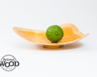 Delicate Bold Graphic Natural Edge Mulberry Wooden Bowl Decor Centerpiece Display — Kent Weakley — 082127D Handmade