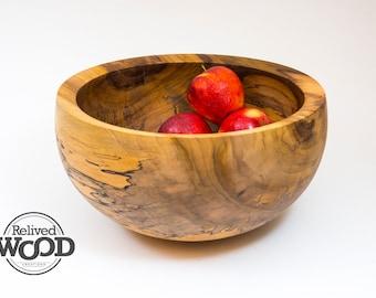 Spalted Tulip Poplar Elegant Hand Made Wooden Bowl Display Centerpiece Decor Functional Gift – Kent Weakley –102737D