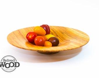 Handmade Wooden Bowl Centerpiece Quarter Sawn Wood Decor – Honey Locust - Kent Weakley - 081747D