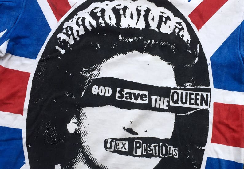 30fa1a865f1 Vintage All Over Print Sex Pistols God Save the Queen | Etsy