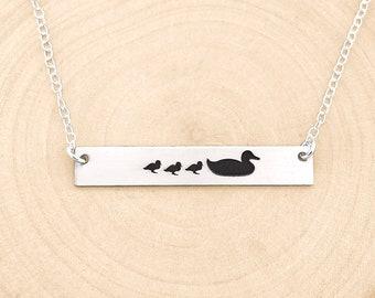 Family jewellery Duck jewellery Enamelled jewellery Family of Ducks Necklace Family necklace Duck Necklace enamelled Necklace