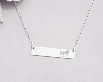 30d0434f2 Horse Necklace, Equestrian Jewelry, Pony Charm, Horse Jewelry, Custom Horse  Pendant, Gift For Her, Gift For Daughter