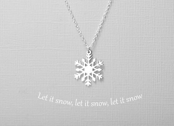 Schlüsselanhänger Schneeflocke Kalt Winter Schnee Zeichen silber Metall Anhänger