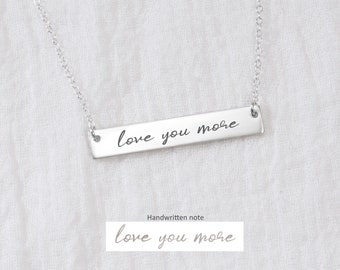 Handwritten Necklace • Handwritten Jewelry • Custom Handwriting • Personalized Hand writing Necklace