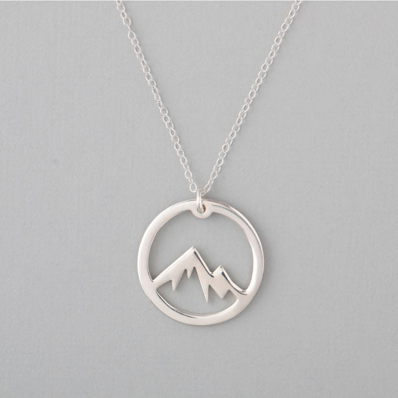 Mountain Necklace Wanderlust Necklace The Mountains Are image 1