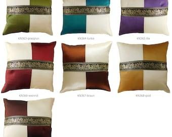 Set of 4 Thai Silk Sofa Cushion Pillow