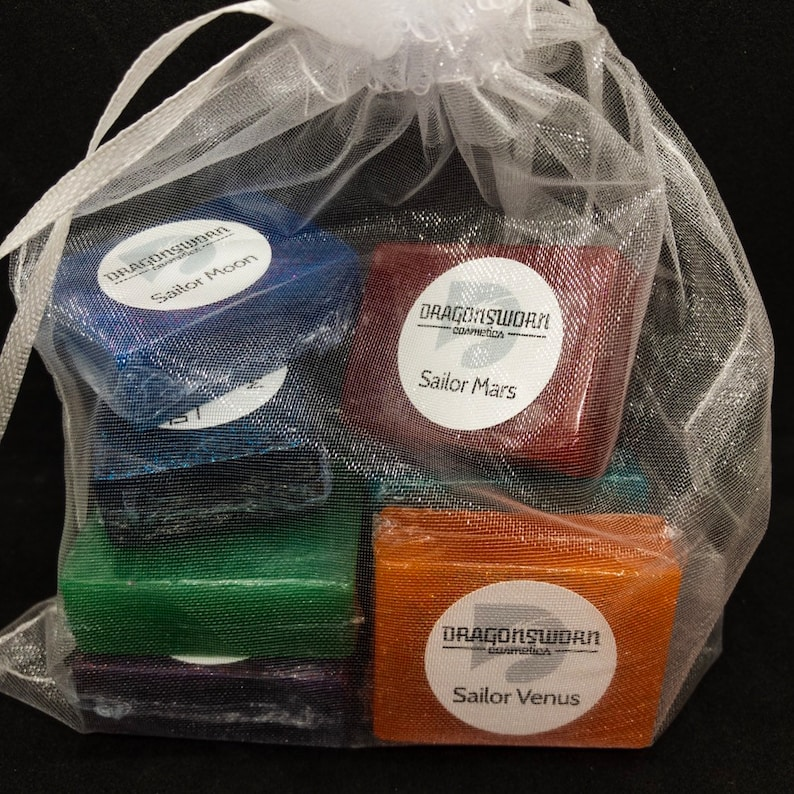 Fandom-Inspired Handmade Scented Mini Soap Collection Pretty Soldiers