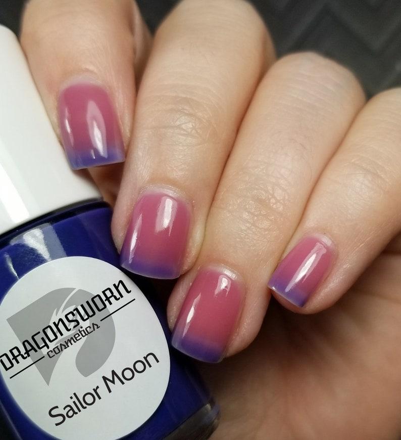 SAILOR MOON  Handmade 10-Free Natural Thermal Nail Polish image 0