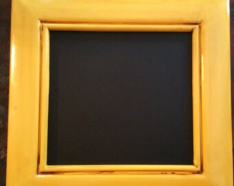 Upcycled shabby chic yellow chalkboard