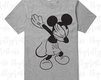 daca5c0cd Mickey Mouse Dabbing SVG Cut File | Disney Shirt Mickey SVG | Hand drawn  Dabbing Mickey Disney Cricut Silhouette SVG File | Digital Download