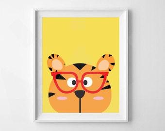 Tiger Print | Animal Nursery Print | Nursery, Child's room decor | Digital Download