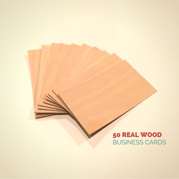 wood business cards set of 50 blank wood cards wood tags etsy