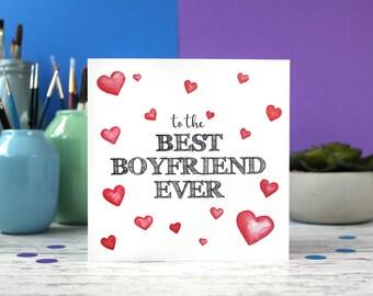 Best boyfriend ever, boyfriend card, boyfriend birthday, valentines card, anniversary card