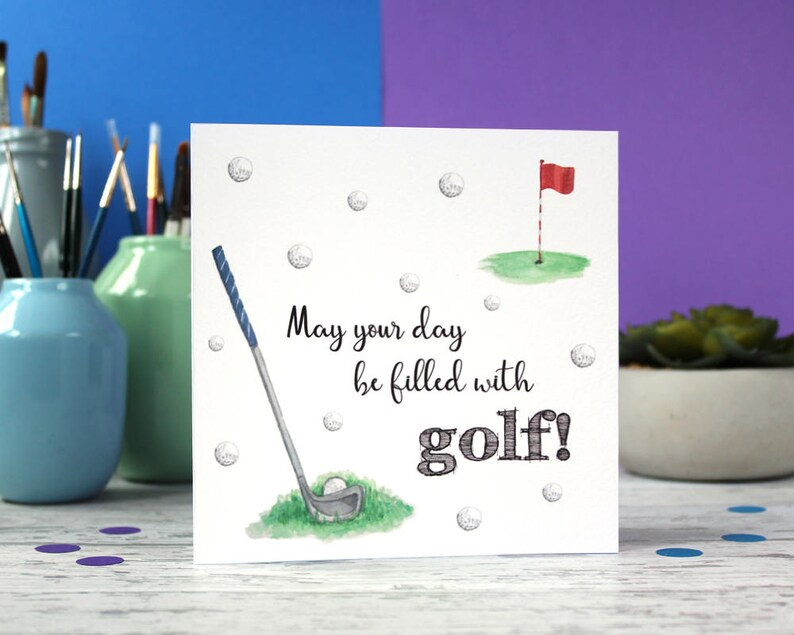 Golf Card Dad Birthday Fathers Day