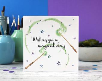 Magical day card, cute birthday card, happy birthday, birthday wishes