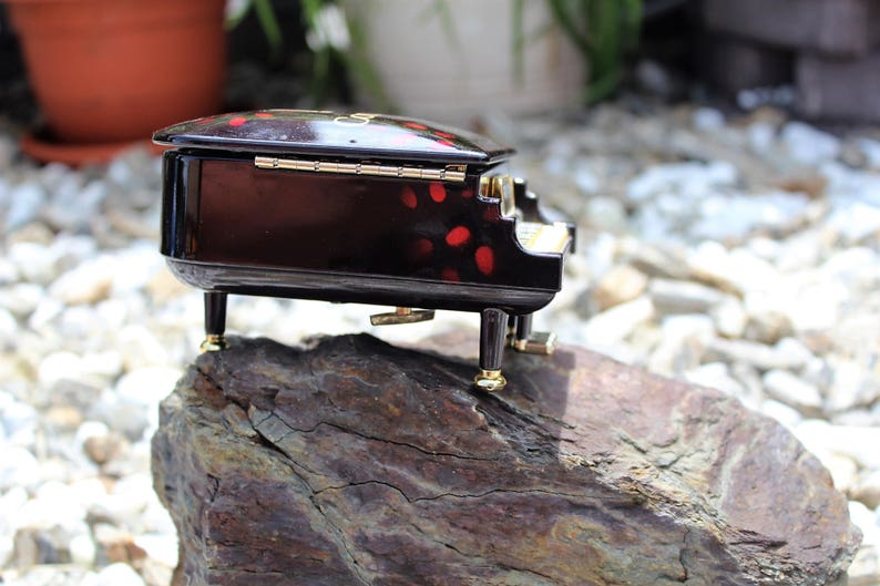 Trinket Box Plastic Grand Piano Music Box Jewelry Holder