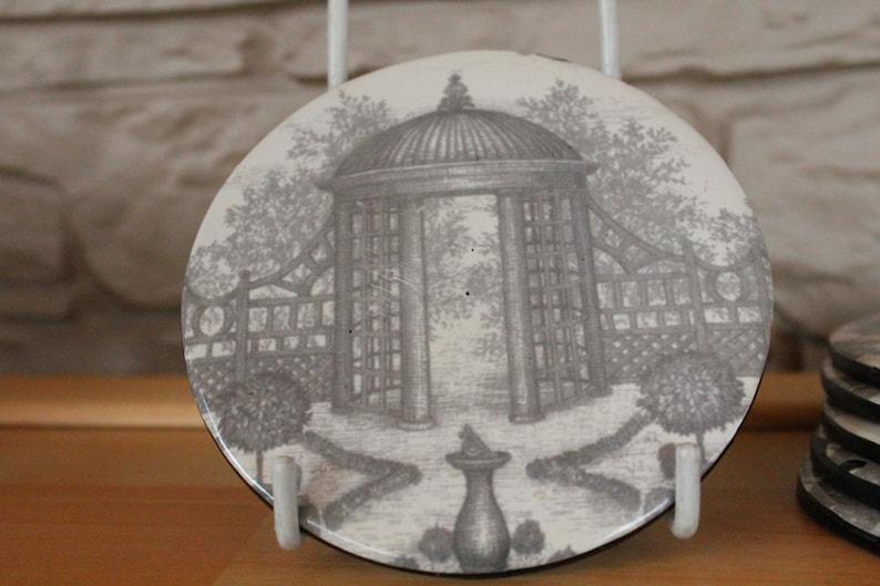 Summerhouse Antique Shabby Chick Coasters Vintage Black /& White Coasters