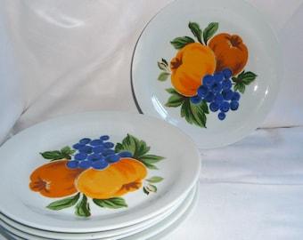 Set of 6 CP Colditz Porcelain Plates Made in Gdr, German Porcelain Dinner Plates