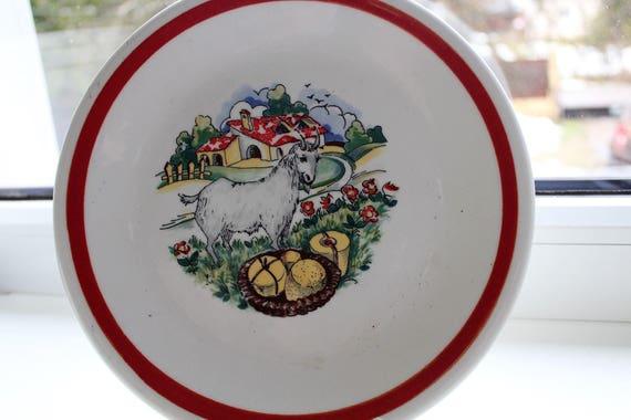 Vintage ceramica castellania italy pottery plate ceramic etsy