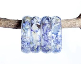 Real Larkspur Flower Ring, Blue Resin Ring, Resin Jewelry, Nature Ring, Flower Jewelry, Real Flower, Pressed Flower, Boho Style Ring, Wife