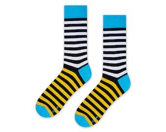 Toucan striped socks, mens socks, womens socks, gift for men ideas, womens gift, funny socks, great colorful socks, boyfriend gift socks