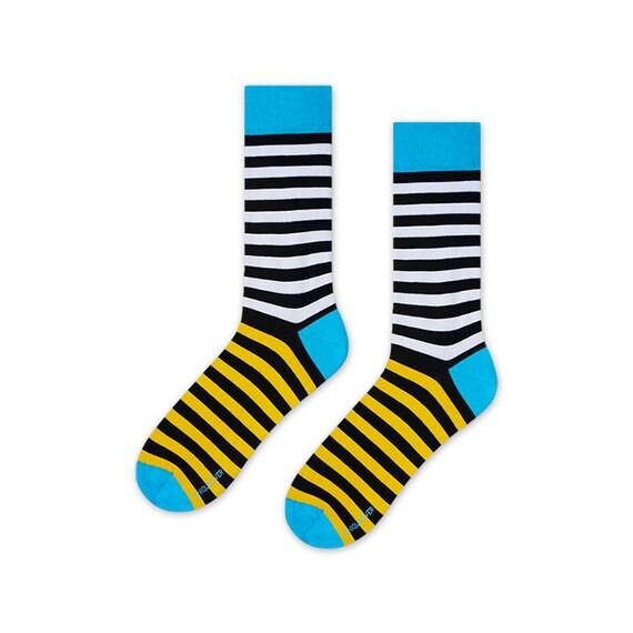 9a93ff05b Toucan striped socks mens socks womens socks gift for men | Etsy