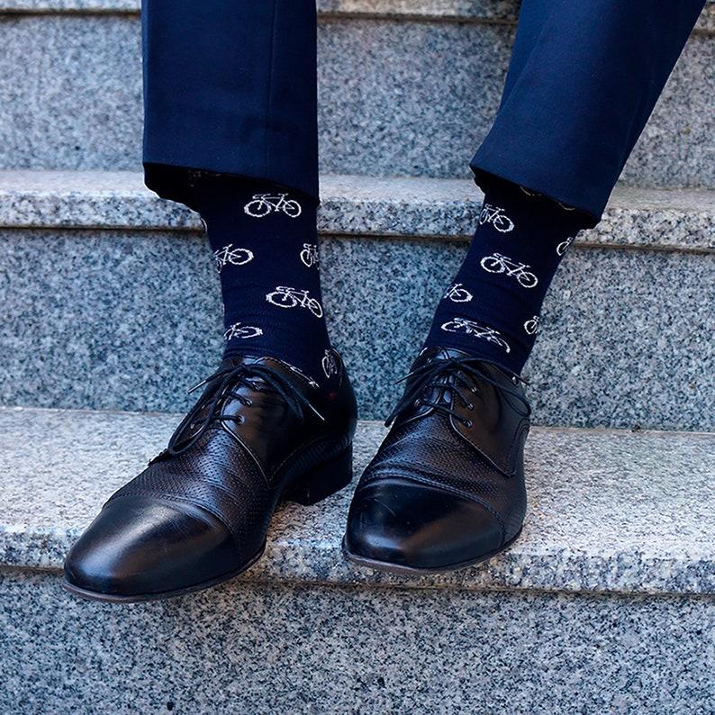 Bicycle mens socks groomsmen socks wedding socks christmas image 0