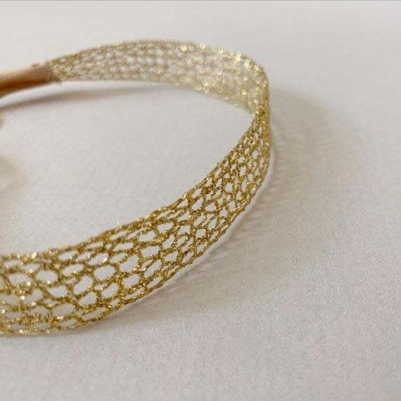 2 types Gold lace baby/'s head band