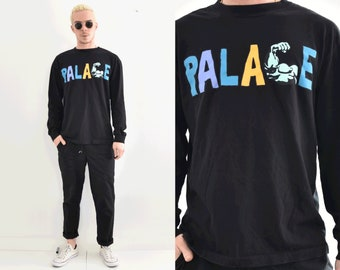 PALACE Long Sleeve Graphic Spellout XL Crew Neck Tshirt