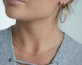 Gold chain necklace etsy plain snake chain necklace gold filled chain thin cable chain necklace dainty gold fill chain necklace gold layering necklace chain mozeypictures Gallery