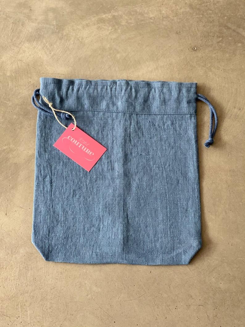 Bread bags made of petrol-fibre linen in vintage look image 0