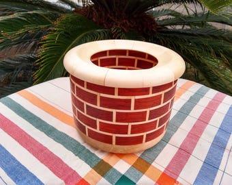 "Padauk and Maple ""Bricks"" Bowl"
