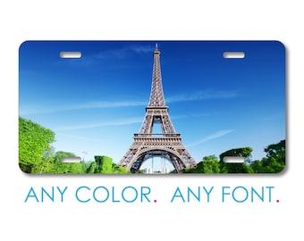PERSONALIZED LICENSE PLATE CUSTOM CAR TAG PARIS EIFFEL TOWER
