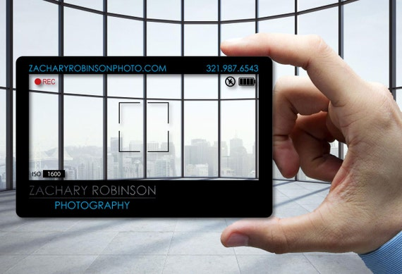 Clear plastic business cards for photographer 30 mil thick colourmoves