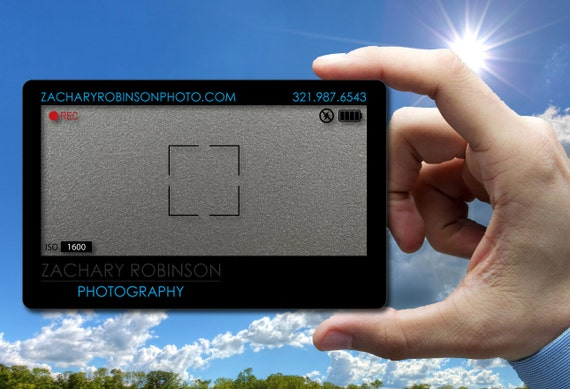Metallic Silver Plastic Business Cards For Photographer 30 Etsy