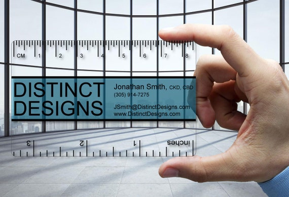 clear plastic business cards ruler for designer 30 mil thick etsy