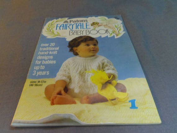 Knitting Patterns Patons Fairytale Baby Book 22 Designs For Etsy