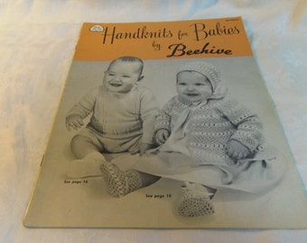 Vintage Knitting Patterns, Handknits for Babies 3 to 12 Months, Beehive Patons Baldwin Book 78 1950s