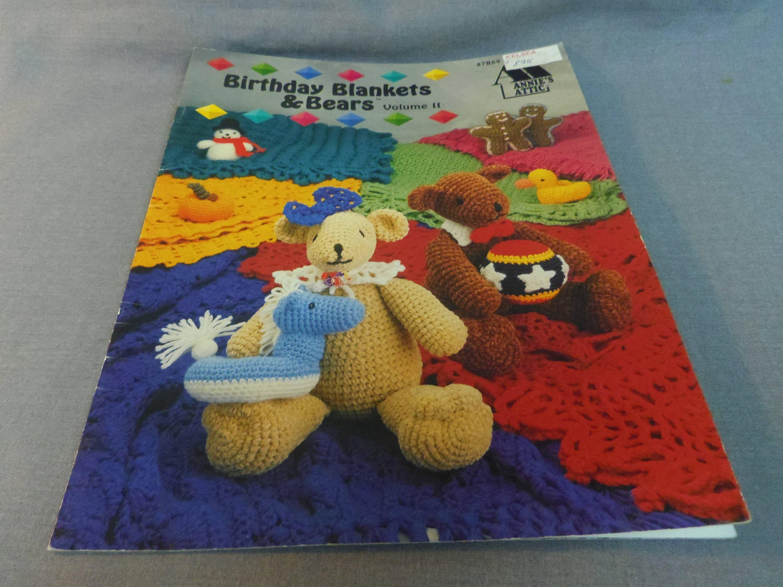 Crochet Patterns Birthday Blankets And Bears Volume Ii Etsy