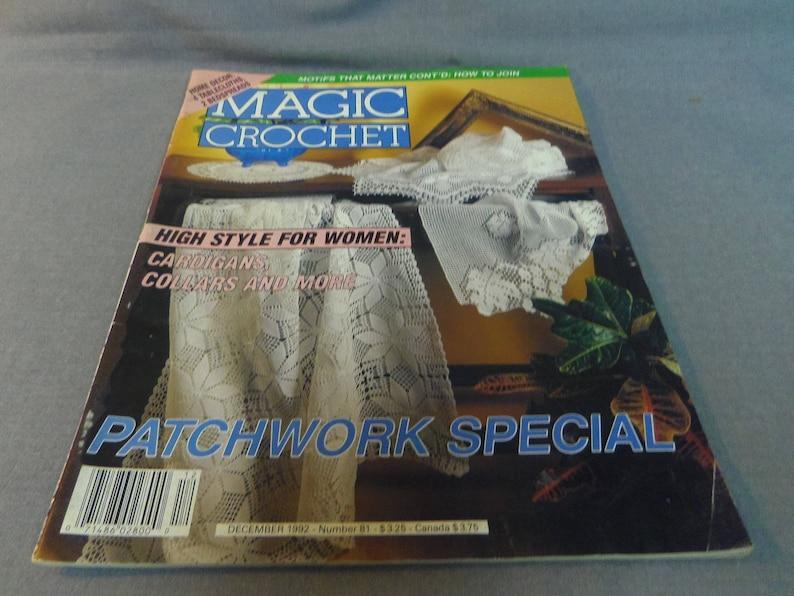 Dec 1992 Lamp Shade Bedspread Thread Crochet No 81 Home Decor Tablecloth Doilies Magic Crochet Magazine Fashion