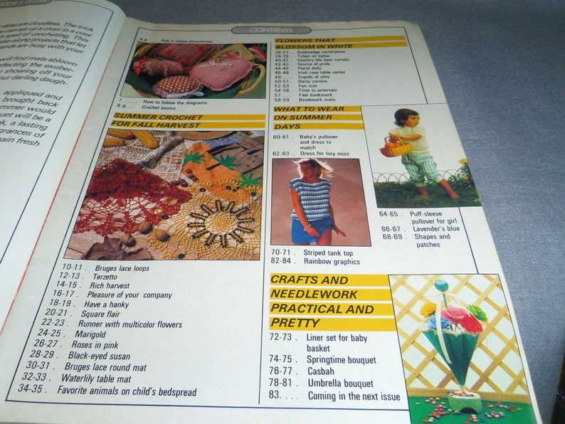 Beadwork Mats, Thread Crochet Jun Doilies Magic Crochet Magazine No Tablecloth Fashion 48 1987
