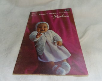 Knitting Patterns for Babies Nursery Styles for 3 to 12 Months Beehive Book No 111
