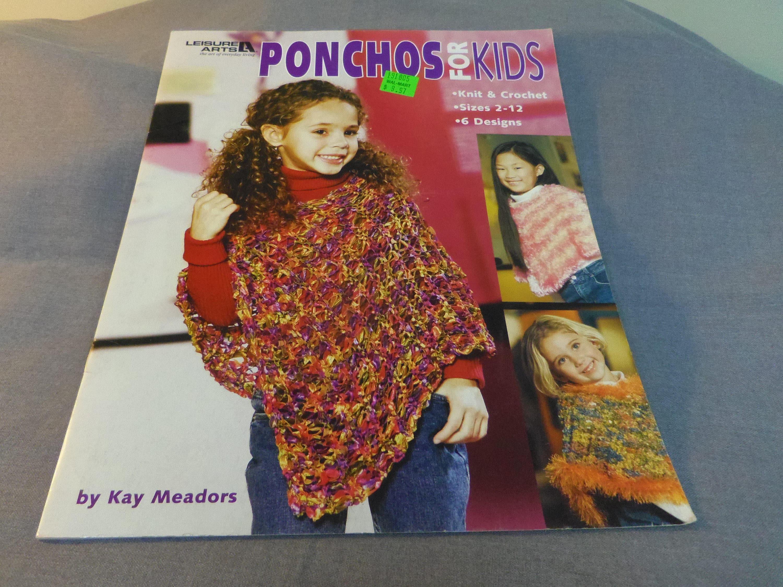 De punto y ganchillo patrones, Ponchos para niños, 6 diseños, ocio ...